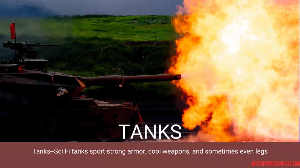 Fire shooting from a tank gun