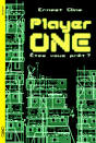 Cover of Ready Player One showing the stacks in green schematic over black