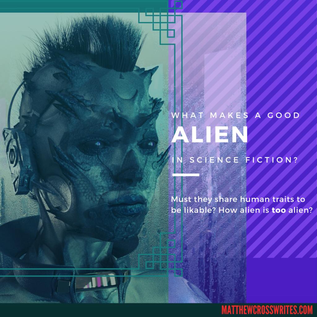 Headline image of feminine, punk-style alien with mohawk wearing headphones