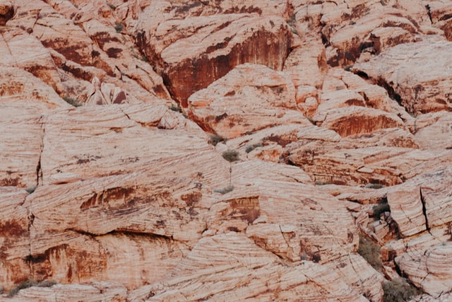 Close-up detail of rough rock textures